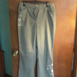Awesome olive green coldwater creek pants